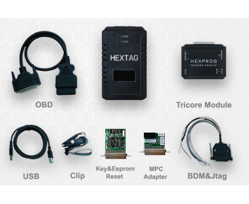 Microtronik HexTag avec programmeur HexProg fonction BDM